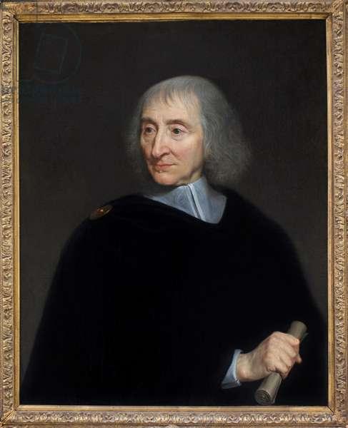 Portrait of Bernard Arnaud d'Andilly (1589-1674), Jansenist writer. Oil on canvas, 1667, by Philippe de Champaigne (1602-1674). Musee du Louvre, Paris.