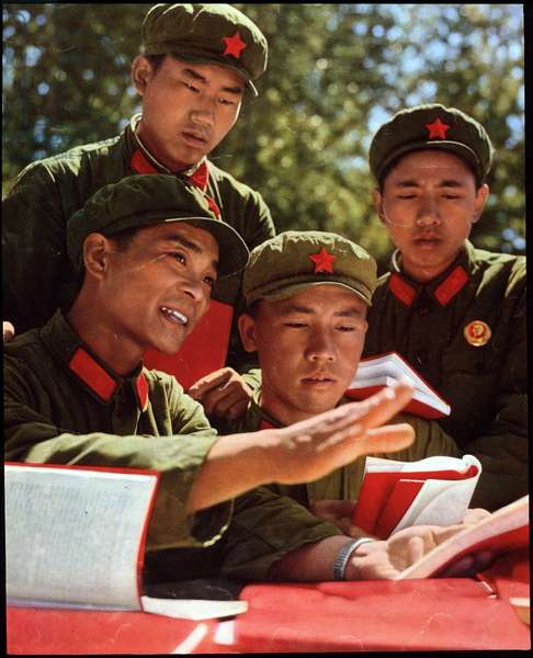 The small red book distributed in the army during the Cultural Revolution, 1968
