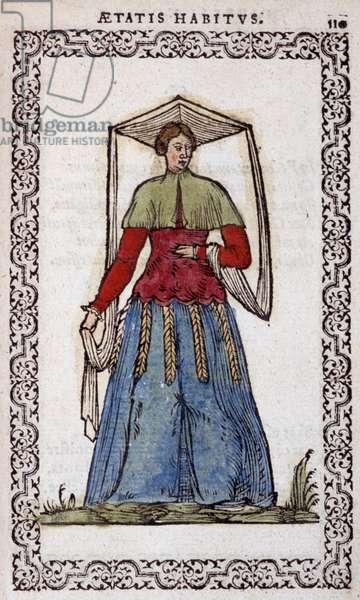 """La Nictorienne - in """""""" Habits et effigies"""""""" by Jean Sulperius, 1572"""