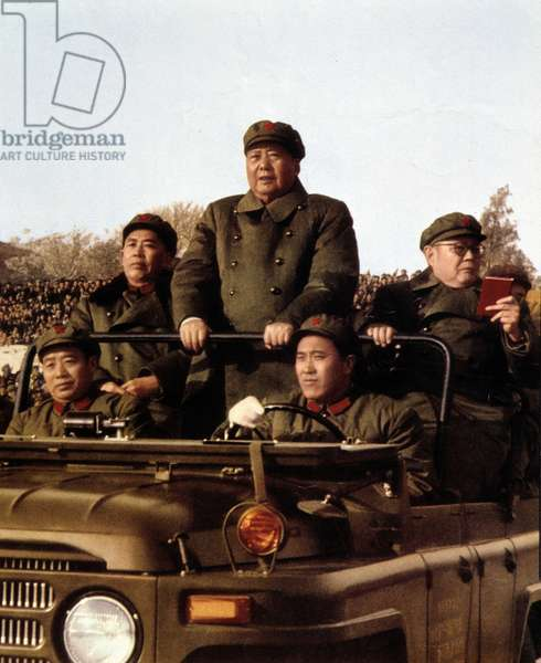 "Mao in a jeep reviewing the great cultural revolution- in """" China"", 1967"
