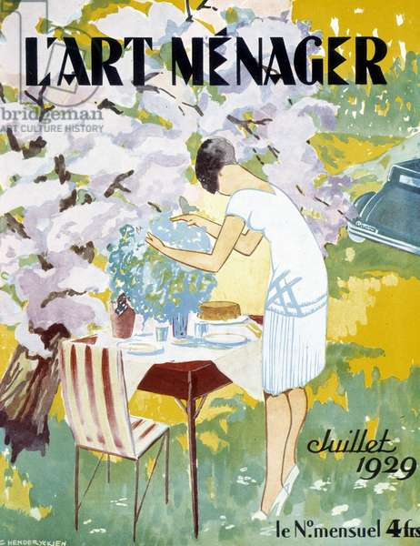 "Picnic - in """" L'Art ménager"""" from July 1929"