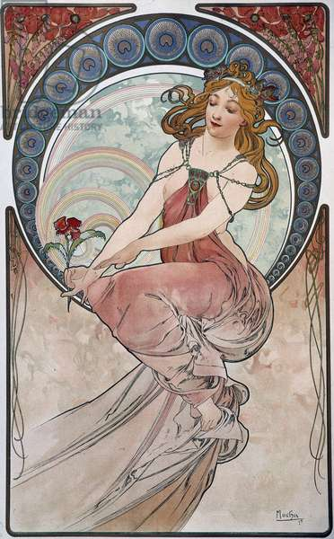 Painting - by Mucha, 1898.