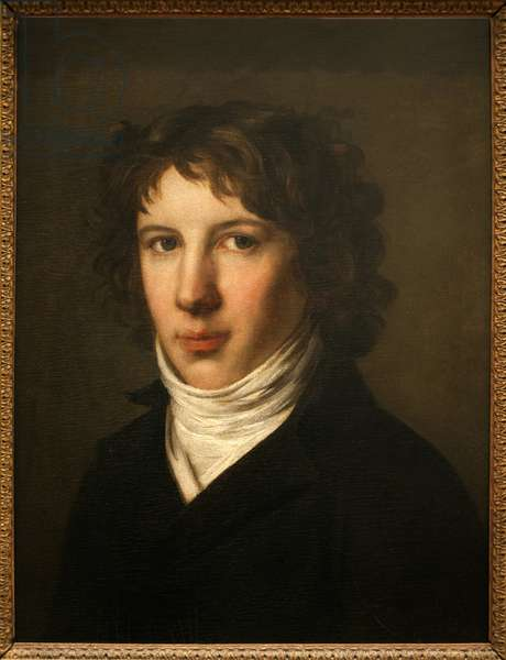 Portrait of Louis Antoine de Saint-Just, 1793 (oil on canvas)