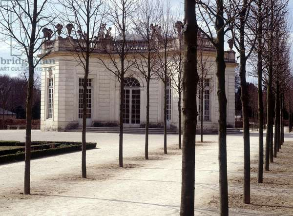 View of the Trianon in Versailles in the Yvelines (78).