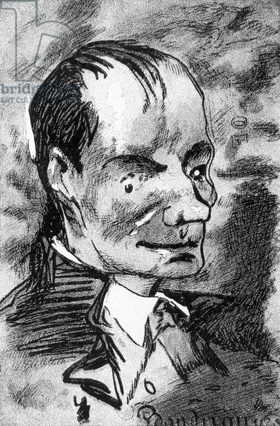 Portrait of Baudelaire - drawing by Nadar, 19th century
