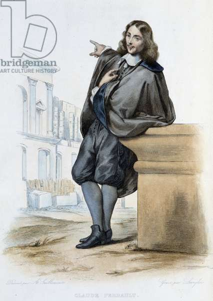 """Claude Perrault (1613-1688) French physician and architect- in """""""" Le Plutarque frannais"""""""", by Mennechet, Paris, 1844-47"""