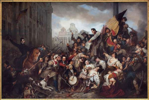 The Belgian Revolution of 1830, 1835 (oil on canvas)