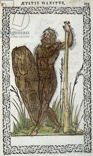 "Homme sauvage - in """" Habits et effigies"""" by Jean Sluperius, 1572"