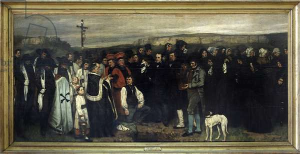 The funeral in Ornans - by Gustave Courbet, Musée d'Orsay, 1850