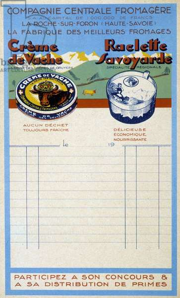 Letterhead of the Compagne Centrale Cheese