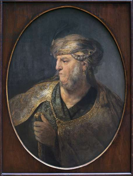 Portrait of a man in an oriental costume. Painting by Rembrandt Harmenszoon van Rijn (1606-1669), Oil On Canvas, 1633. Dutch art, 17th century. Munich, Alte Pinakothek (Germany).
