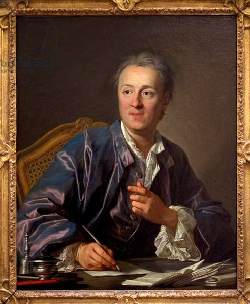 Portrait of Denis Diderot, 1767 (oil on canvas)