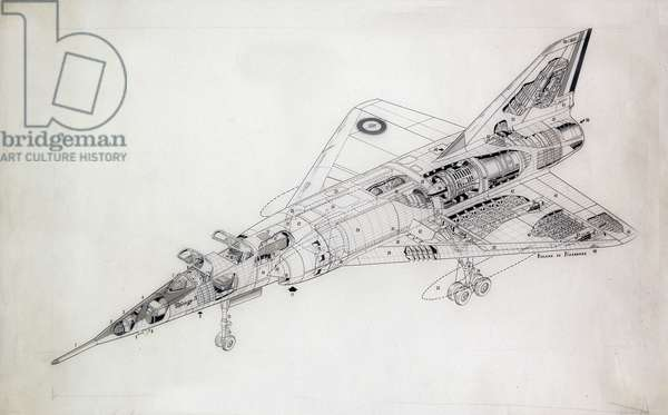 The Concorde - black and white drawing.