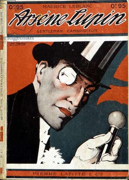 Arsène Lupin, gentleman burglar - Couv. of the novel by Maurice Leblanc (1864 - 1941). Ed. Pierre Lafitte. Illustration by Leon Victor Fontan dit Leo Fontan (1884-1965).