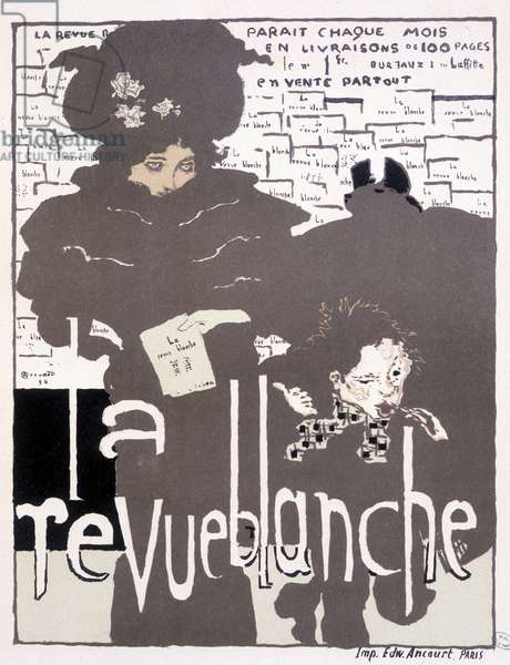 Press poster for La Revue blanche. Illustration by Pierre Bonnard (1867 - 1947), 1894.