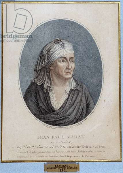 Portrait of Jean Paul Marat (1743-1793), French physician, publicist and politician, 1793. (Idem 05750)