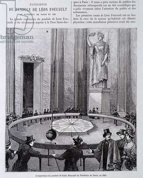 Experience of the Pendulum by Leon Foucault at the Pantheon in Paris in 1851.