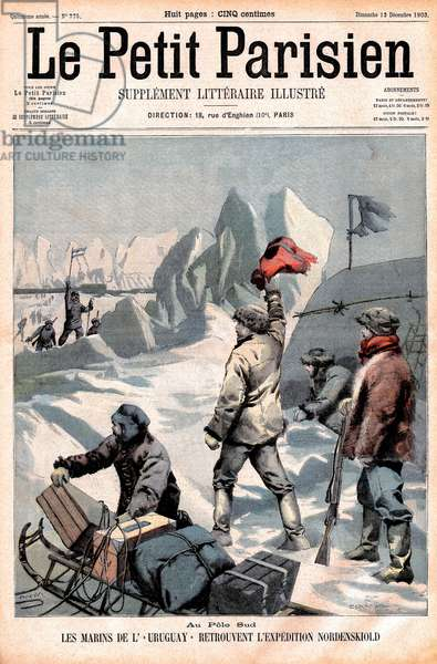 'The Sailors of Uruguay', Members of the Expedition led by Otto Nordenskiold to the South Pole, Front Cover of 'Le Petit Parisien', December 1903 (colour litho)