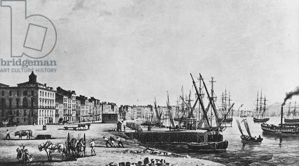 The quays of Bordeaux in 1833