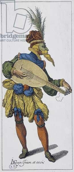 Guitar player, 16th century
