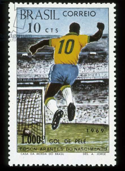 Brazilian stamp on Pelé, 1969