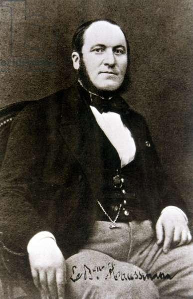 Portrait of Baron Haussmann, c.1850 (b/w photo)