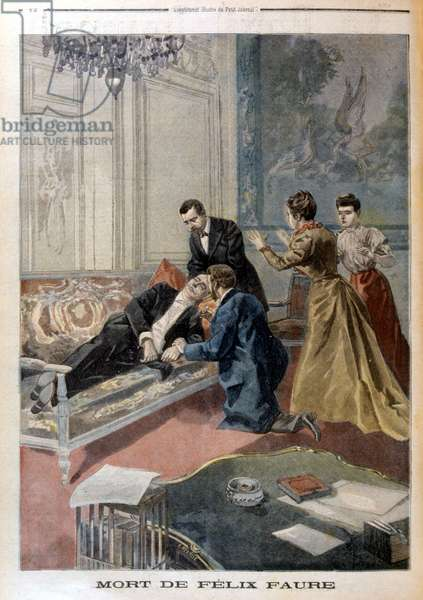 "Death of Félix Faure in the salons of the Elysée - in """" Le Petite Journal"""" of 26/02/1899"