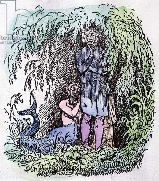 The Little Mermaid - illustration by Vilhelm Pedersen, Denmark, 1848