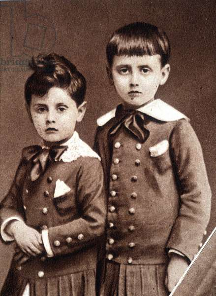 Robert and Marcel Proust children in 1877.