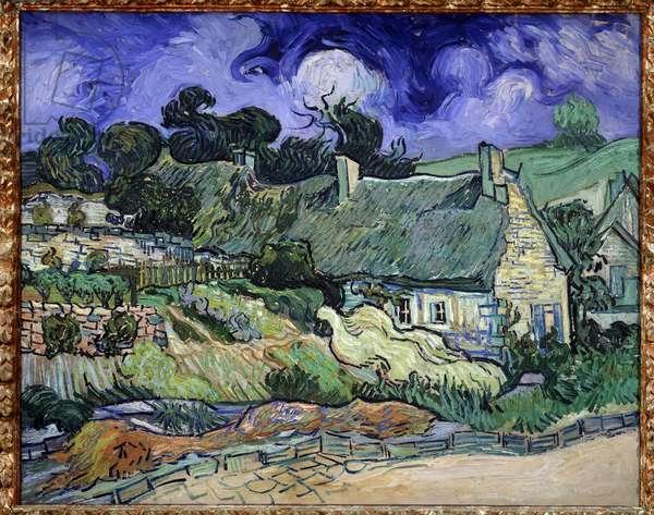 Chaumes de Cordeville a Auvers-sur-Oise (Auvers sur Oise) - Painting by Vincent Van Gogh (1853-1890), 1890. Oil on canvas. Dim.: 0.73 x 0.92 m. Orsay Museum