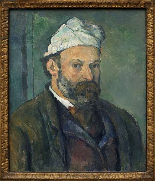 Self-portrait. Painting by Paul Cezanne (1839-1906), oil on canvas around 1880. French Art, 19th century. Neue Pinakothek, Munich (Germany).