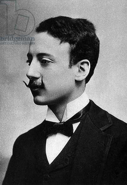 Portrait of Gabriele d'Annunzio (1863-1938), Prince of Montenegro, Italian writer and poet.