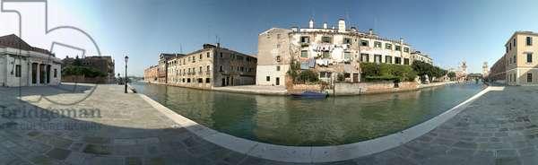 Canal in Venice, near the Arsenal. Photograph by Leonard de Selva, Italy, 2001.