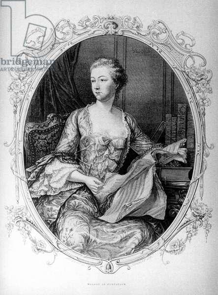 Madame de Pompadour, Jeanne Antoinette Poisson (1721-1764) (Marquise of Pompadour))