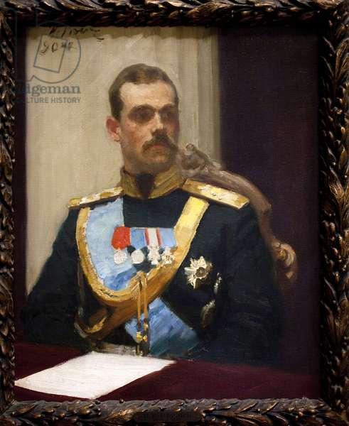 Grand Duke Mikhail Alexandrovich Romanov, or Michael of Russia (1878-1918). Oil on canvas, 1904, by Ilia Efimovich Repine (1844-1930). Musee d'Orsay, Paris.
