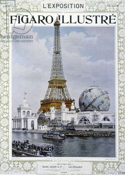 "Exposition Universelle: The Eiffel Tower - in """" Figaro illustrated"""", 1900"