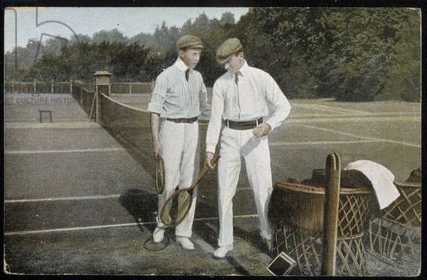 Tennis Players - Postcard, 20th Century
