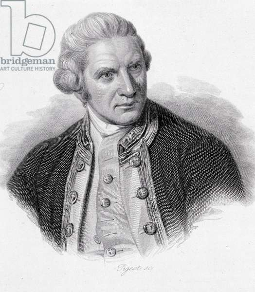 "Portrait of James Cook - in """" Portraits of useful men"""", 1836"