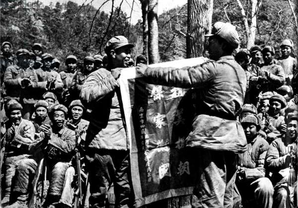 """The Chinese army in North Korea, From """"Korean War"""", China 1959 (b/w photo)"""