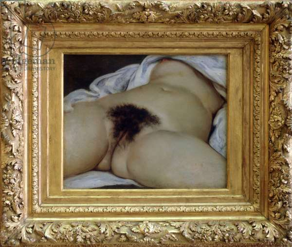 The origin of the world - The model could be Joanna Hiffernan, known as Jo - Painting by Gustave Courbet, 1866 - Musee d'Orsay, Paris