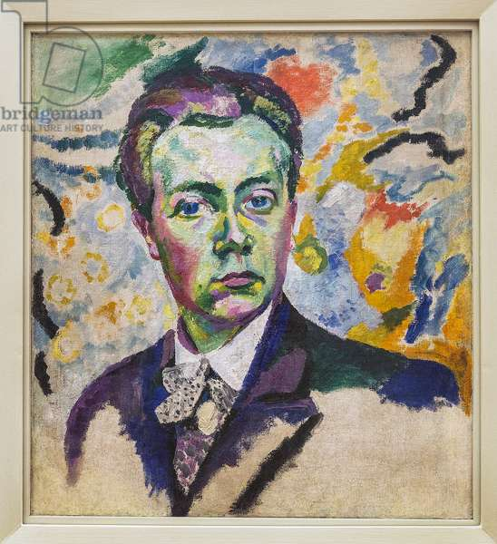 Self-portrait - Delaunay Robert (1885-1941) - Winter 1905-1906 - Height: 0.54 m - Length: 0.46 m - Paris, Centre Pompidou - Musee national d'art moderne