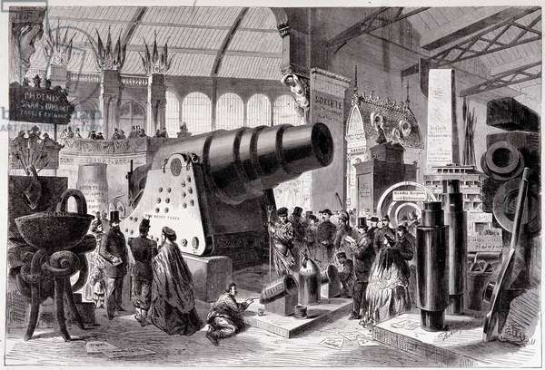 Section of Prussian Metallurgy (Canon) in the Gallery of Machines, 1867 Universal Exhibition in Paris.