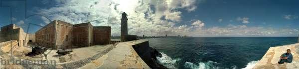 Castillo de los tres reyes del morro (15899-1630), in Havana. Panoramic 360 degrees by Leonard de Selva, Cuba, 2001.