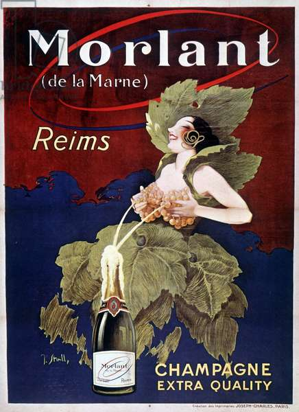 Poster for Champagne Morlant, by J. Stall, 20th century
