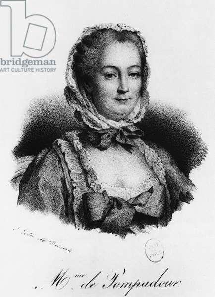 Madame de Pompadour, Jeanne Antoinette Poisson (1721-1764) (Marquise de Pompadour), favorite of Louis XV - Musee Carnavalet.
