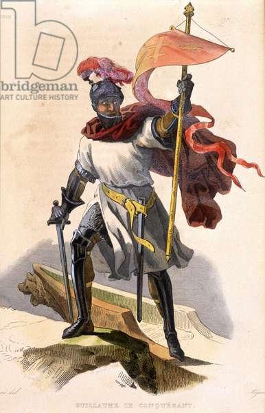 """Portrait of William the Conqueror - in """""""" Le Plutarque francais"""""""", ed. Mennechet, 1835"""