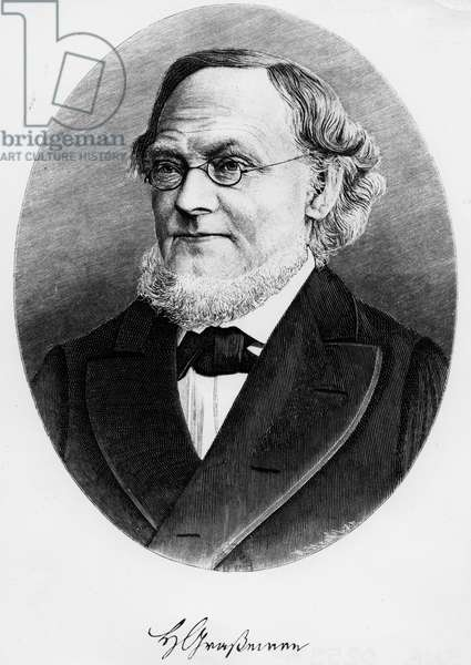 Portrait of Hermann Grassmann (engraving)