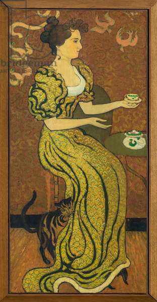 Portrait of Madame Ranson at the Cat circa 1892 (oil on canvas)