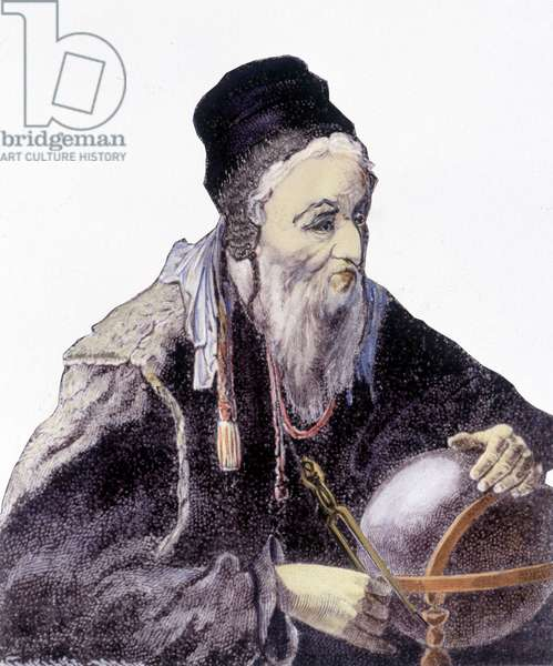 Portrait of Nostradamus, French physician and astrologer (1503-1566)