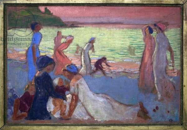 September evening on the beach of Trestignel, 1911 (oil on canvas)